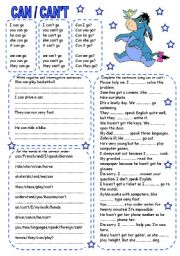 English Worksheet: CAN / CAN´T (1)