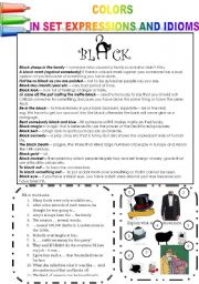 COLORS IN SET EXPRESSIONS AND IN IDIOMS! (PART 7) BLACK