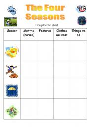 math worksheet : english teaching worksheets four seasons : Four Seasons Worksheets For Kindergarten