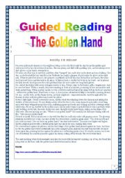 English Worksheets: American Folklore series: another ghost story: the Golden Hand (complete task-based PROJECT: 4 pages)