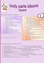 Idioms Denoting Parts of Body Essay