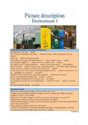 English Worksheet: Picture Description - Environment 1