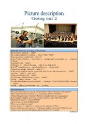 English Worksheet: Picture Description - Music