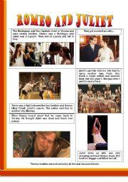 English Worksheet: Romeo and Juliet - PART I