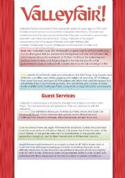 English Worksheet: Valleyfair Amusement Park