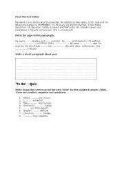English Worksheets: test3