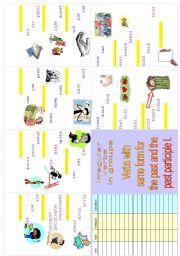 Irregular verbs Minibook 3