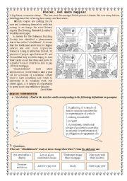 English Worksheets: Poorer but happier