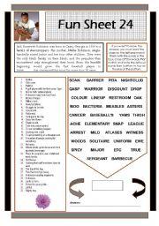 English Worksheets: Fun Sheet 24