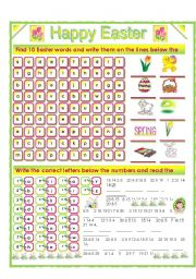English Worksheets: HAPPY EASTER