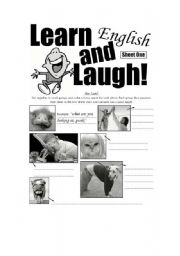 English Worksheets: Learn English And Laugh Sheet One