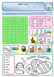 English Worksheet: EASTER ACTIVITIES