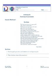 English Worksheets: Practicing Poetry Analysis