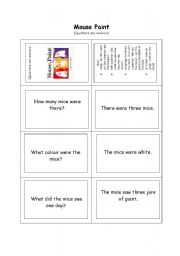 English Worksheets: Mouse Paint - questions and answers