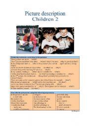 English Worksheet: Picture Description - Children 2