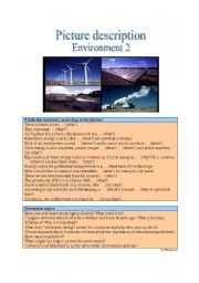 English Worksheet: Picture Description - Environment 2