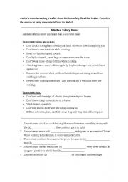 English Worksheets: Reading comprehension and vocabulary exercise