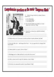 Dangerous Minds Coursework Essay Sample