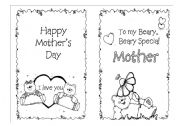 English Worksheet: Mother´s day Card