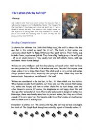 English Worksheets: Who�s afraid of the big bad wolf?