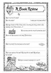 how to write a book review for primary school