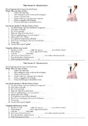 English worksheet: MOnster in Law