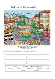 Welcome to Grammarville (grammar exercises)