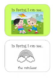 Spring mini book (3 pages)