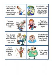English Worksheet: FUNNY PROBLEM CARDS - should OR 2nd conditional
