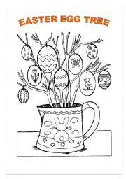 English Worksheet: AN EASTER EGG TREE