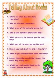 English Worksheets: Telling about books