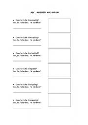 English Worksheets: interviw