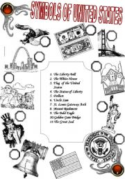English Worksheet: Symbols of United States of America, 2 pages