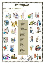 English Worksheet: I�m an engineer! - A 4 skill lesson