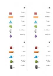 Printables List Of Images Shapes And The Names english teaching worksheets 3d shapes 2d and shapes