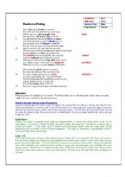 english worksheets blackberry picking by seamus heaney english worksheet blackberry picking by seamus heaney