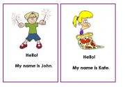 English Worksheets: Greetings Unit - song flashcards (Lesson 1)