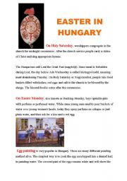 English Worksheet: EASTER IN HUNGARY
