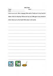 English Worksheets: writing 6