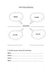 english teaching worksheets four seasons. Black Bedroom Furniture Sets. Home Design Ideas