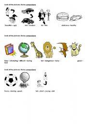 English Worksheets: MAking comparisons
