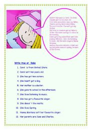 English Worksheets: Carol�s life