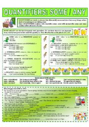 english worksheets quantifiers some any 1 6. Black Bedroom Furniture Sets. Home Design Ideas