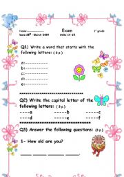 English Worksheets: a useful worksheet for kids