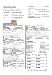 English Worksheet: cinderella�s life