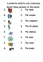 english teaching worksheets classroom commands. Black Bedroom Furniture Sets. Home Design Ideas