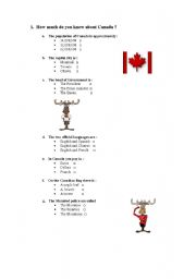 How much do you know about Canada ?