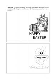 English Worksheet: 4 Easter Cards