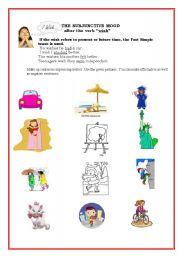 english teaching worksheets the subjunctive. Black Bedroom Furniture Sets. Home Design Ideas