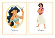 English Worksheets: Disney flashcards - Lesson 1/2